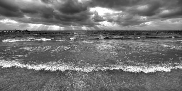 November on Ludington Beach
