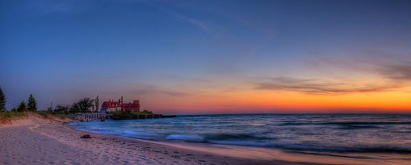 Point Betsie after Sunset