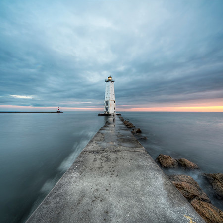 Frankfort North Breakwater Lighthouse Wide