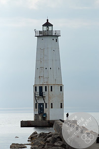 Solitude at Frankfort North Breakwater Lighthouse
