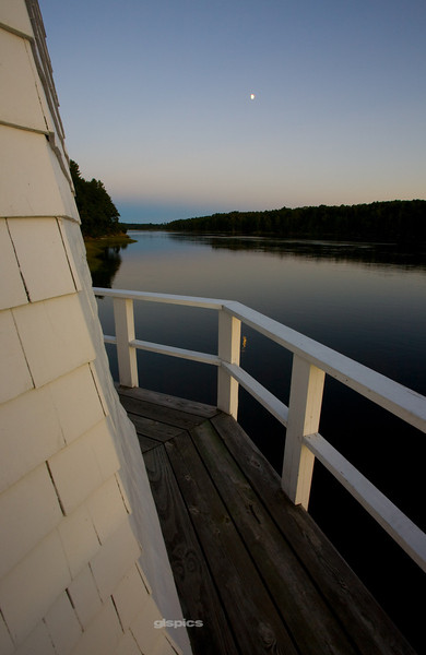 Moon over the Kennebec at Doubling Point, Bath, Maine