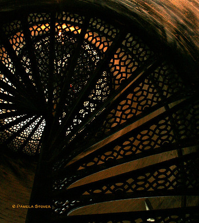 Point Aux Barques Lighthouse<br /> Spiral cast iron stairs<br /> Port Austin / Huron City, Michigan<br /> © Pamela Stover<br /> Exposed Images Photography