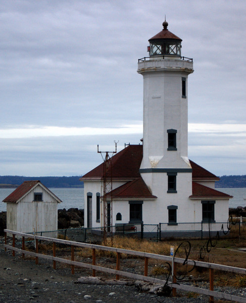 Photo By Bob Bodnar..................................Point Wilson Lighthouse...... Its two miles Northwest of Port Townsend WA.
