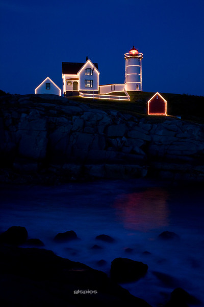 Twilight at the Nubble in Cape Neddick, Maine