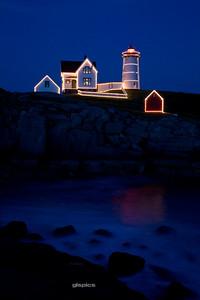 Twilight at the Nubble in Cape Neddick, Maine