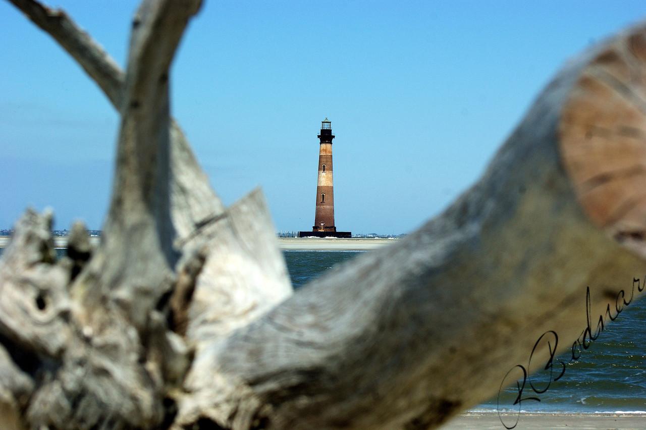 Photo By Robert Bodnar...................................Morris Island Lighthouse, Morris Island SC.