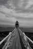 Marshall Point Lighthouse in Black & White