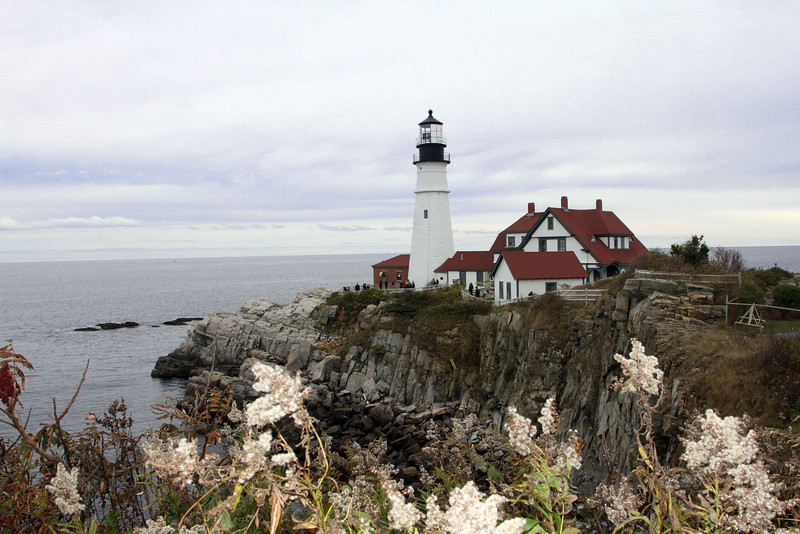 Portland Maine's Main Light, one of the most photographed.