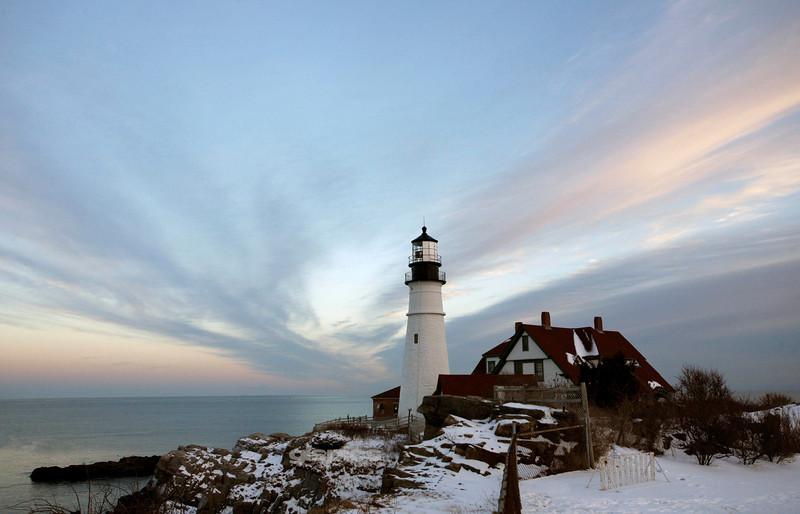 Portland Head Light Sky