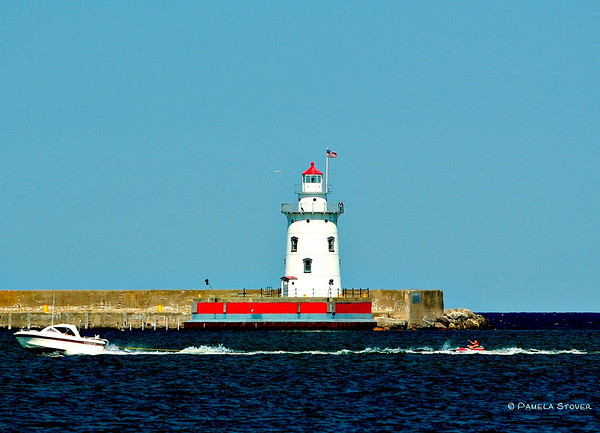 Harbor Beach Lighthouse<br /> Harbor Beach Michigan<br /> © Pamela Stover<br /> Exposed Images Photography