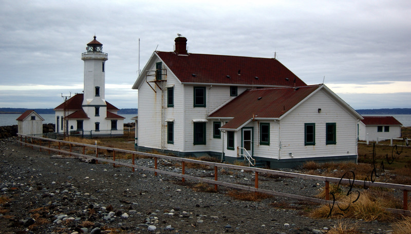 Photo By Bob Bodnar..................................Point Wilson Lighthouse........ Two miles Northwest of Port Townsend WA.