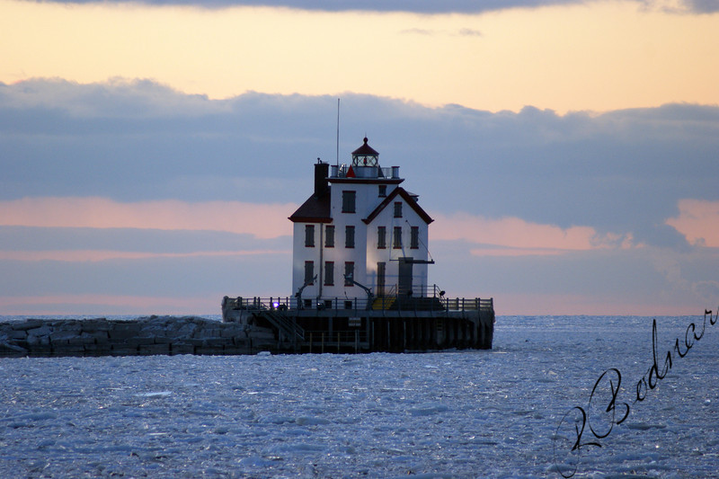 Photo By Robert Bodnar............... Lorain Lighthouse in February