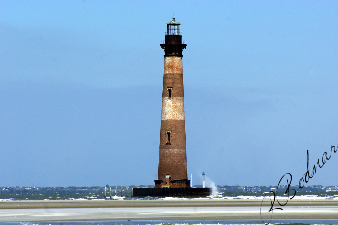 Photo By Robert Bodnar.................................Morris Island Lighthouse, Morris Island SC.