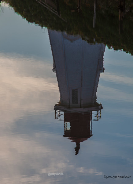 Mulholland Lighthouse reflected