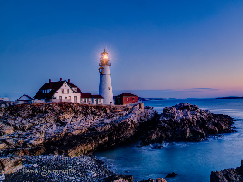 12-16-12 Portland Head Lighthouse at Dawn.  Thanks for all the positive feedback and support on my black and white photo of this lighthouse.<br /> <br /> Critiques welcome.