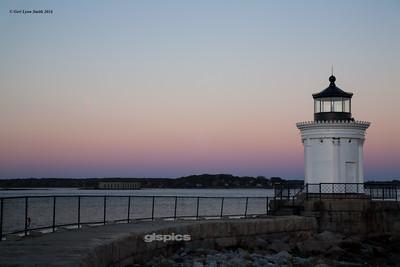 Sunset behind Bug Lighthouse
