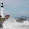 Portland Head Light - Cape Elizabeth, Maine<br /> 20090823-DSC_8261<br /> Crowd and surf courtesy of Hurricane Bill
