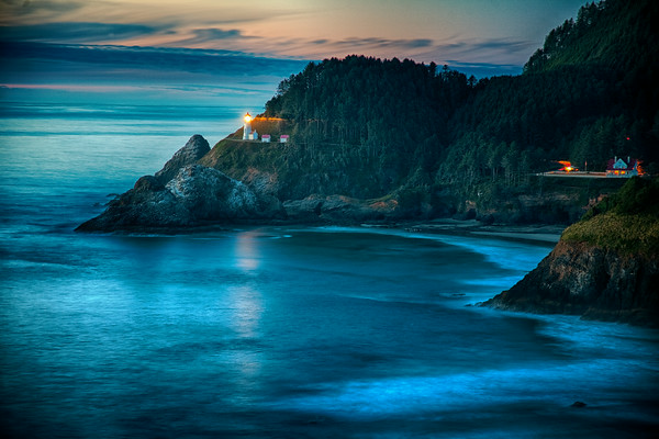 Heceta Head Lighthouse, Oregon taken at sunrise.