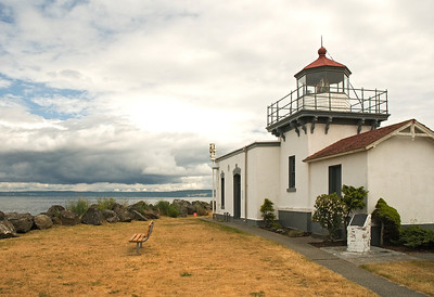 Point No Point lighthouse located on the North Kitsap peninsula outside of Hansville, Washington