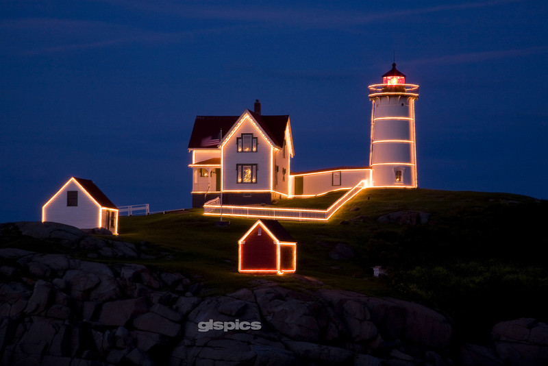 Cape Neddick, Nubble Lighthouse, Christmas in July 2009