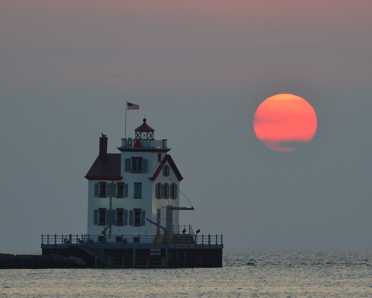 The Lighthouse and the Setting Sun