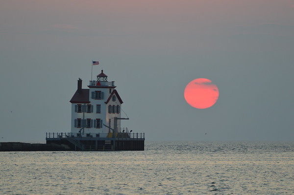 Lorain Harbor Sunset