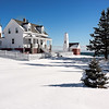 A Bright Winter's Day at Pemaquid Point Light