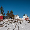 Winter at Pemaquid Point Lighthouse