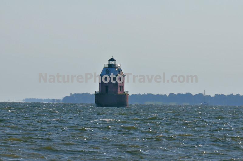 Sandy Point Shoal Lighthouse, Chesapeake Bay (near Chesapeake Bay Bridge and Sandy Point State Park).