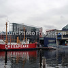 Lightship Chesapeake, Baltimore, MD. Background: National Aquarium in Baltimore, Submarine Torsk and Inner Harbor.