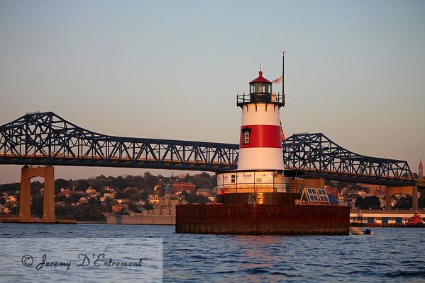 Borden Flats Lighthouse, Fall River, Massachusetts