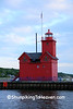 """Big Red"" Holland Harbor Lighthouse, Ottawa County, Michigan"
