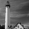 New Presque Isle Lighthouse - B&W