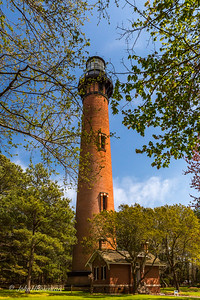 Stayed April 4-5 at Pamlico House B&B (400 E Main St,  Washington, NC); Outer Banks photography workshop (Randy Sanger & John Deas) April 7-10; family gathering at Carol & Jim's afternoon of 10th, with Nancy & Arturo in from Seattle; Currituck Beach Lighthouse (1873-75) 1st lit Dec 1, 1875; ~1 million bricks in tower, with walls tapering from ~5.5 ft thick at base to ~3 ft thick at top; 1st-order Fresnel lens; focal plane 158 ft, brick tower ~150 ft, top of lantern room 162 ft; 214 stairs to catwalk below lantern room; lighthouse still active USCG aid to navigation, but automated; lighthouse & grounds owned by Outer Banks Conservationists nonprofit, which has spent ~$1.5 million & 3 decades on restoration, including keepers' houses; opened to public 1991; Currituck Beach Lighthouse added to National Register of HIstoric Places 1973 (73001333), boundary increases 2000 changed listing to Currituck Beach Lighthouse Complex
