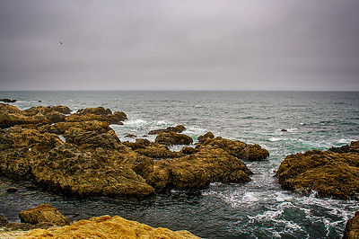 The California coast near Montara Lighthouse