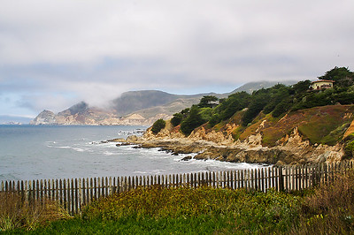 Coastal scene in Montara, near Half Moon Bay