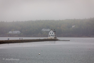Rockland Breakwater Lighthouse, Fog - Rockland, ME (400mm)