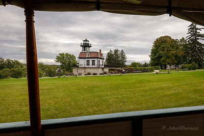 Shelburne Museum - Lighthouse from Ticonderoga Cargo Area