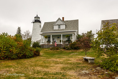 Dyce Head Lighthouse, from Yard - Castine, ME