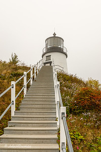 Owls Head Lighthouse in Fog - Knox County, ME