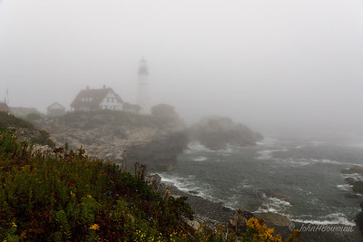 Portland Head Lighthouse in Fog - Cape Elizabeth, ME