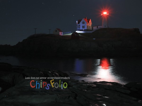 Nubble's Shadow in the Moon Light