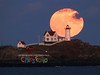 Full Moon Rise behind Nubble Light