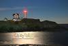 At Night Under the Full Moon at Nubble Light