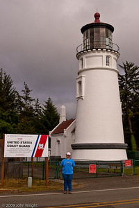 Heather in front of the lighthouse