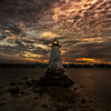 """Sunrise at Palmer's island Light with Tide Coming""<br /> October 29th, 2011"