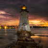 """Sunrise at Palmer's Island Light""<br /> October 29th, 2011<br /> New Bedford, MA"