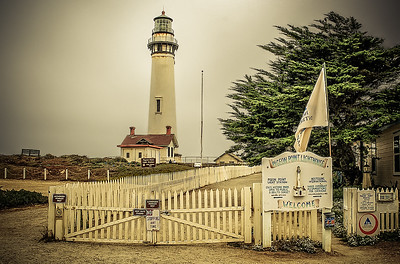 The Pidgeon Point lighthouse and Hostel grounds