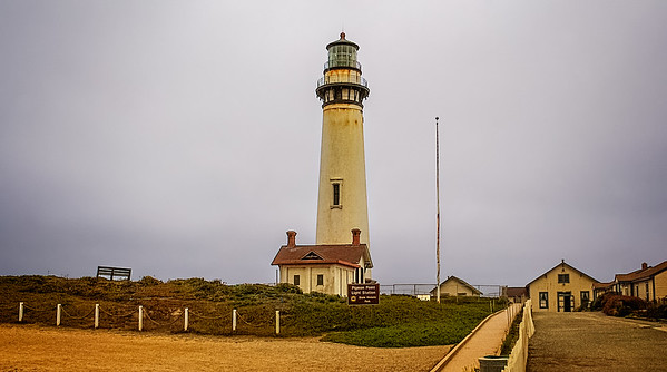 The grounds of the Pidgeon Point Lighthouse