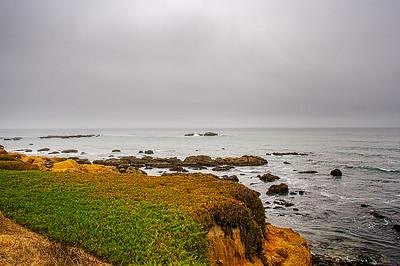 An ocean view near the Pidgeon Point lighthouse